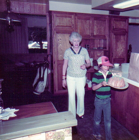 Mom with Grandson Richard at my house in Simi Valley, CA 1983.