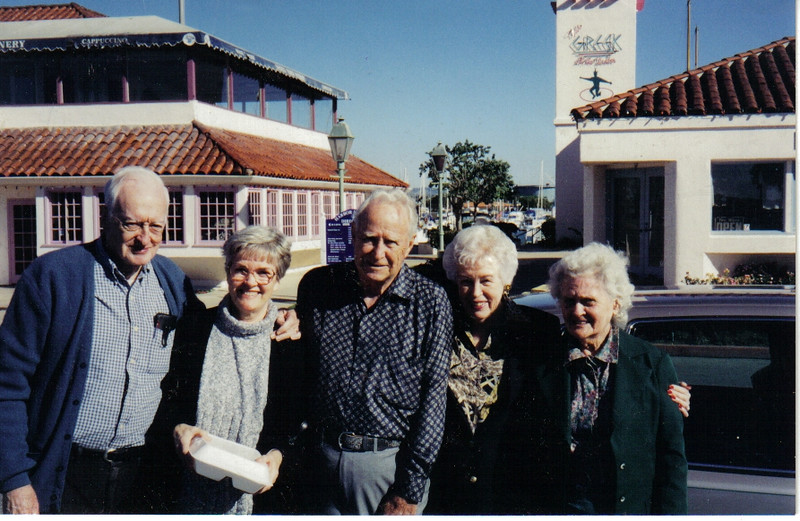 Mom with her brother Bob Naugle and his wife Helen (left side ) and her sister Evelyn and her husband Ken (right side)