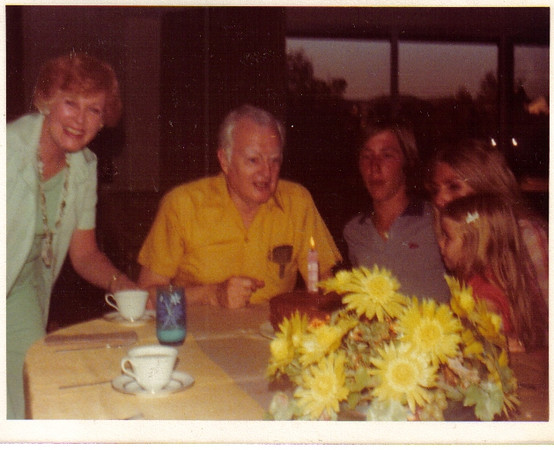 Mom with her brother Bob, her nephew David, my sister Marianne with granddaughter Tara.