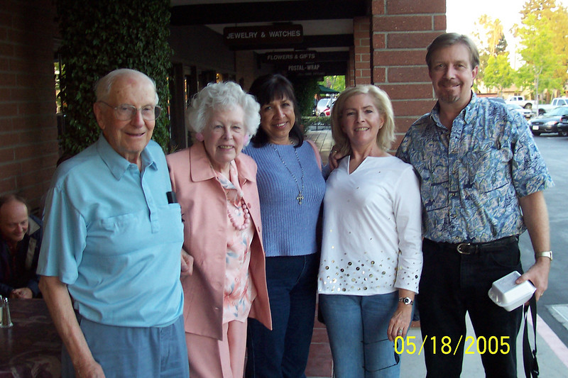 Mom and Dad with my girlfriend Patricia Bowman, my sister Marianne and me, 2005.