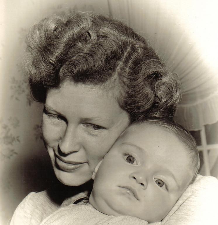 Mom and me, 1949.