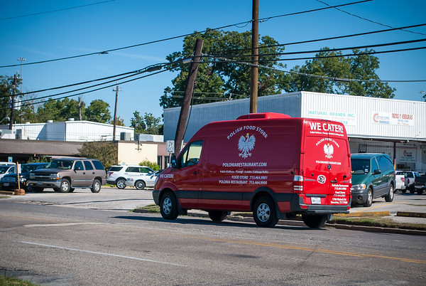 Polonia Restaurant Truck heading for the farmers market on Airline