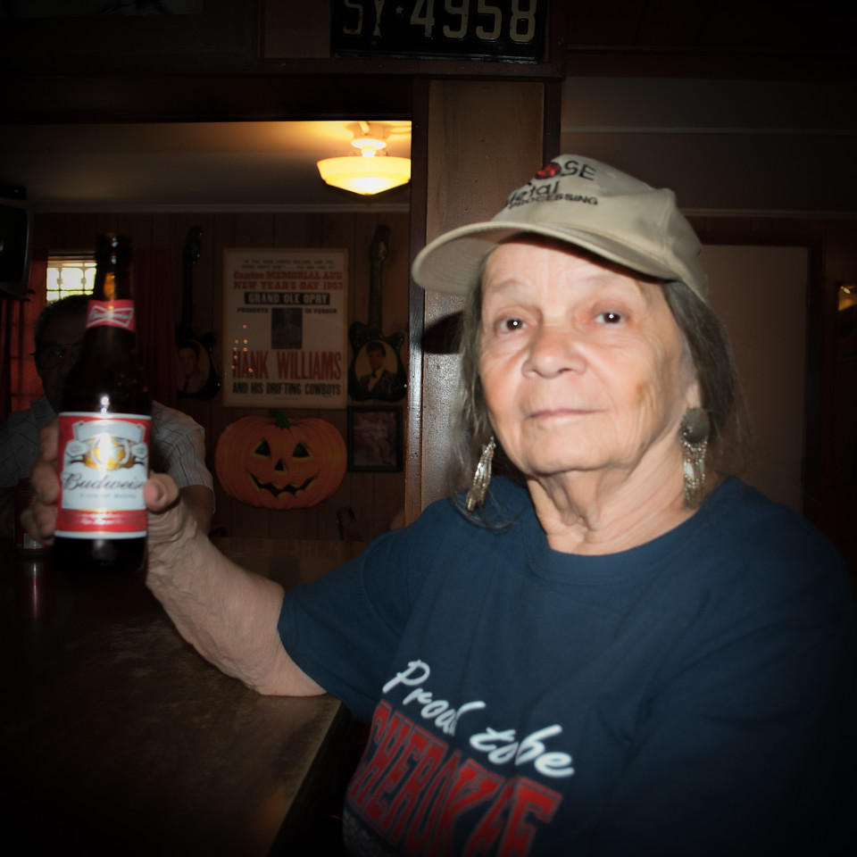 Cherry with a Budweiser toast at Rose Garden in the heights