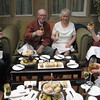David and Una on their 60th Anniversary, having high tea. (the cakes were lovely)
