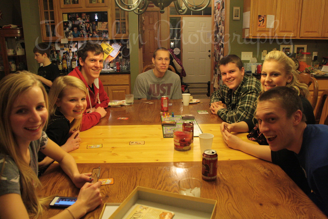 NewYearEves at Matt's  12-31-2012 - games with Cousins