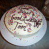 Tom's cake, made with tons of love by the Adams and Jacob families.