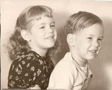 Noreen & Ed, Jr. - probably 1948