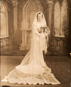 Avonel Cerne on her wedding day  2/5/1938