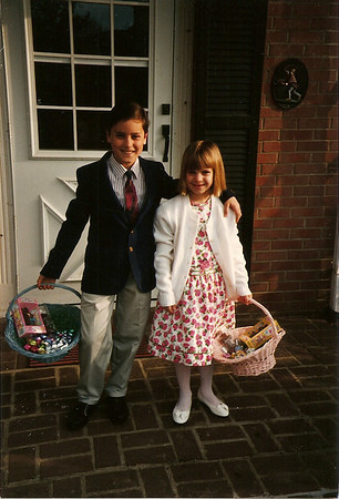 Johnny & Anna Thompson - Easter '95 (Jan's picture)