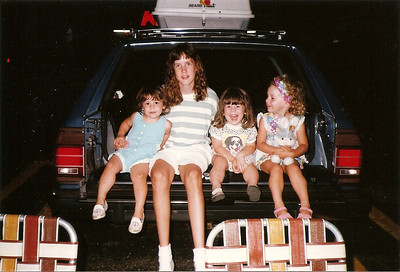 Kelly, Catherine, Mandy & Maddie - watching fireworks  7/91