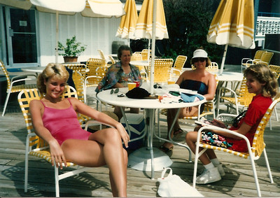Caroline, Mom Cerne, Jan, Colleen -  Myrtle Beach - Summer '85