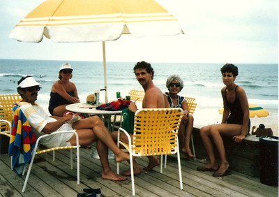 Ed, Jan, Greg, Jane's Mom, Jane - Summer '85 - Myrtle Beach, SC