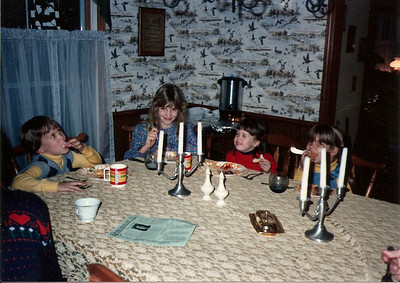 Edward, Colleen, Catherine & Katey - Thanksgiving '83