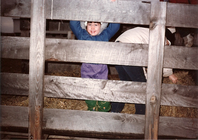 Catherine in the barn - Thanksgiving '83