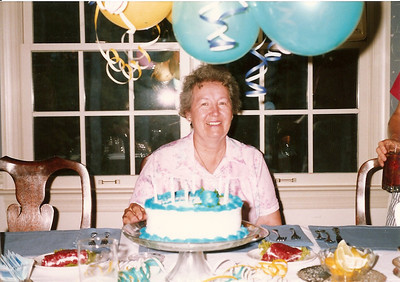 Celebrating Mom Cerne's birthday - Durham 9/88