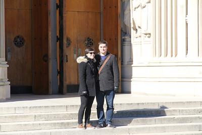 John & Molly in the doorway of Duke Chapel