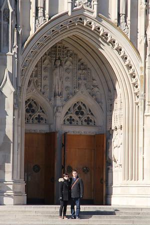 Molly & John in front of Duke Chapel