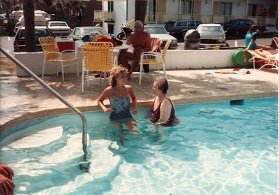 Caroline , Grandma Cerne, Grandpa Cerne - Summer '84