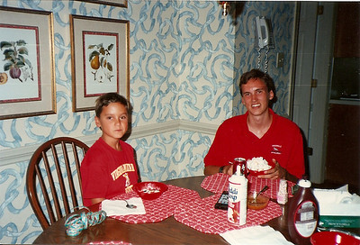 Johnny & Edward III  (how did I live with that wallpaper for so long?)    9/94