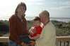 Carol, Grandma W & Chandler at the beach house.