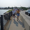 Soldier Ride walkers.  Oma and Ruth.