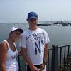 Max and Sam on Jordan's Bridge.