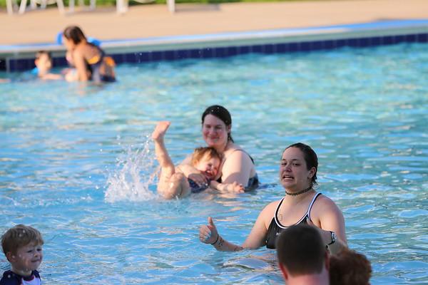 Charlie's first swim lesson June 2018
