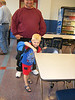 """Gavin Michael Potter... Ready for a night at the game!  His """"dad"""" Adam was a Shaler Titan football player '04  Uncle Vince is standing behind him."""
