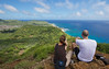 On the rim of Koko Crater.