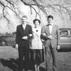 "L to R: Howard Gray, Jr., Jane Gray, and J. L. ""Buck"" Gray. These were Jake Chesson's cousins on the Chesson side. Howard was the son of Helen and Howard Gray, Sr., from Norfolk, VA. Helen was my Granddaddy Chesson's sister. Jane and Buck were children of Mildred and Albert Gray from Edenton, NC. Mildred was also my Granddaddy Chesson's sister. And, Howard and Albert were brothers!<br /> <br /> I believe this photo was taken at a Chesson family reunion held in Washington County at the home of Wesley Chesson, Sr., in late 1950 or early 1951. I have several other photos that were taken at this reunion. Wesley was my grandfather's brother.<br /> <br /> JPC<br /> 5/10/12"