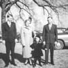 L to R: Jack Gray, Helen Gray, Shirley Gray (child), and Howard Gray. Helen was a sister of Jesse Pyron Chesson, my granddaddy. They lived in the Norfolk area. Howard's brother, Albert Gray, was married to another of granddaddy's sisters, Mildred.<br /> <br /> JPC<br /> 2012.07.27