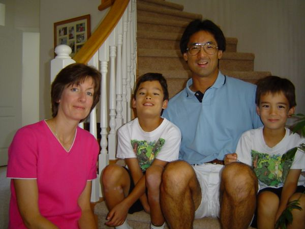 My cousin, Wayne Tsuji, with his wife Gail, and their two boys.