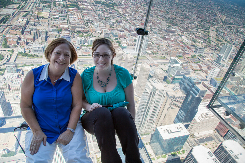 No trip to Chicago is complete without experiencing the Ledge - glass floor balconies 103 floors over Chicago.