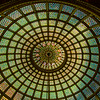 The Chicago Cultural Center is home to the world's largest Tiffany stained-glass dome.