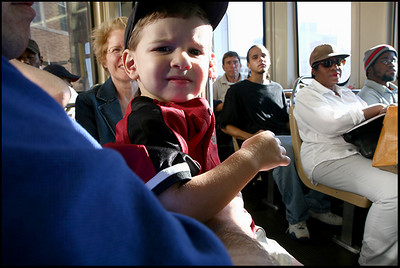 Anthony's first train ride on the elevated train after attending a Cubs/Astros game at Wrigley Field.