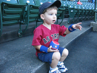 Anthony at Wrigley Field prior to the game.  He wore his wristbands for three days straight!