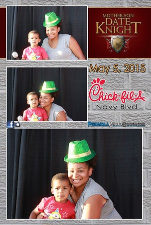 Chick-fil-A Navy Blvd Mother Son Date Knight 5-5-15