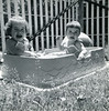 Lynn & Judy enjoying a nice summer dip in the pool.