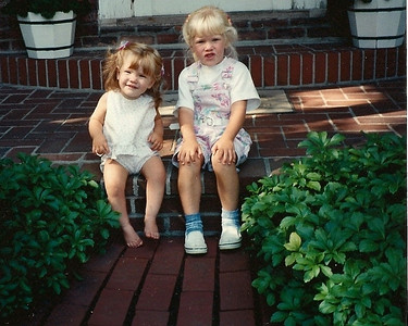 Trudy & Lydia (on Grandma Susie's porch?) summer 1992?