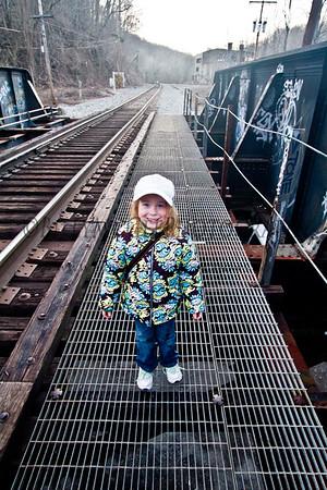 Patapsco Ilchester Train Tracks - 17 Mar 10