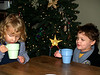 Hot cocoa with cousin Zara