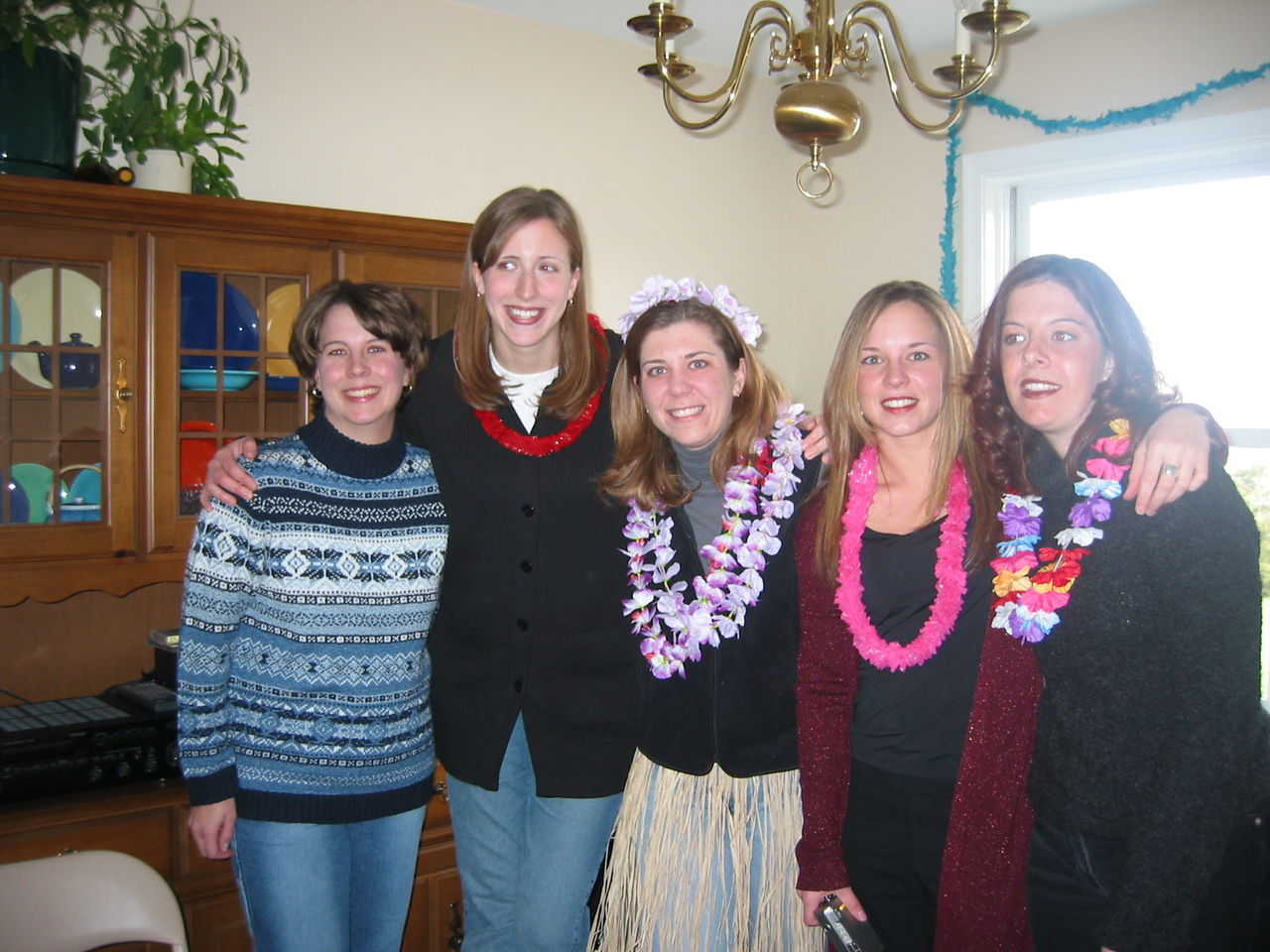 Ilsa and her bridal party, Amy, Amy, Erica, and Cara