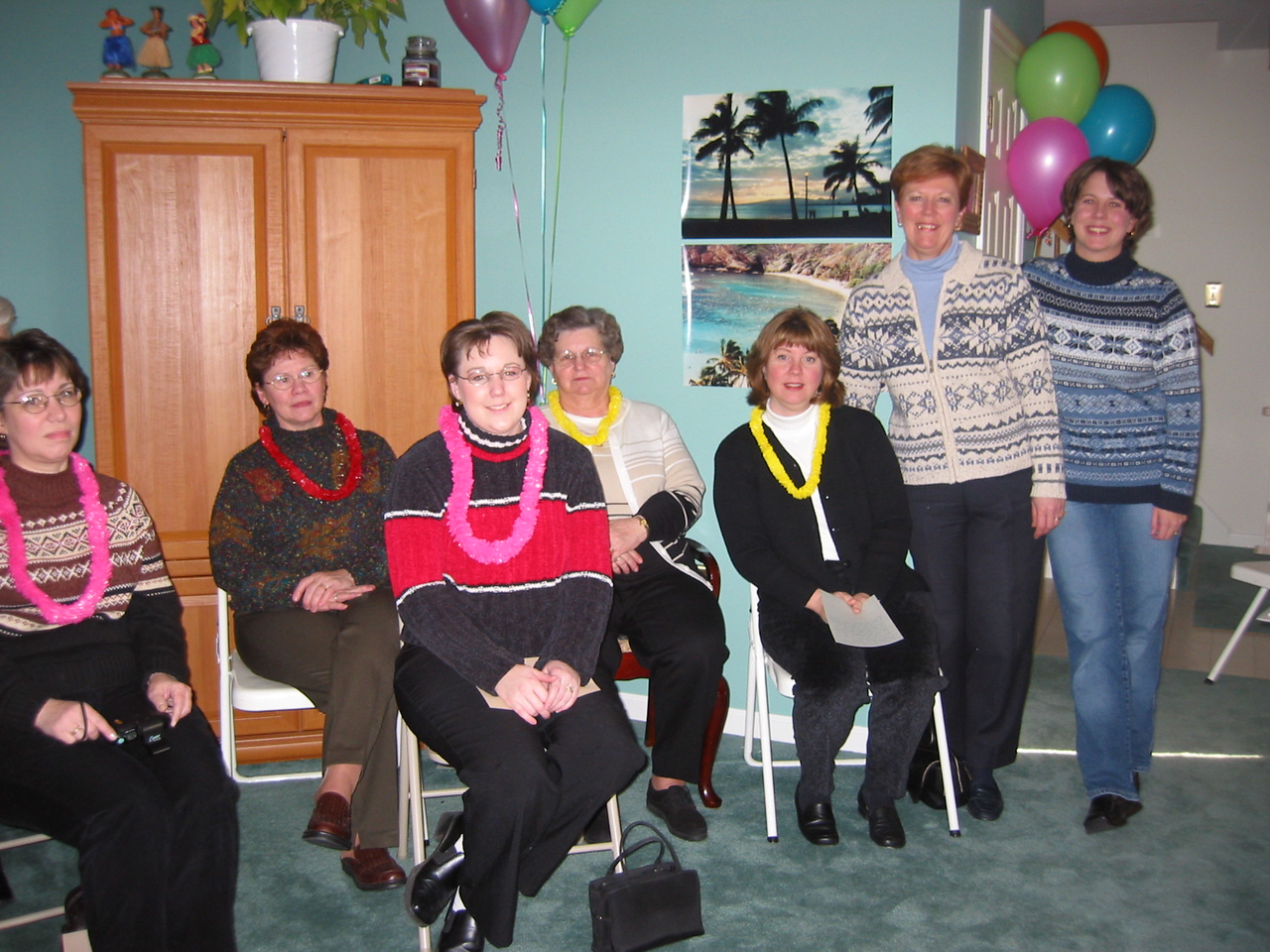 Debbie, Mary, Carrie, Grace, Elaine, Me and Amy (Ilsa's Matron of Honor and hostess of the shower)
