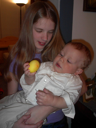 4/11/2004 - Lydia with nephew Dominic (12 + yrs.)