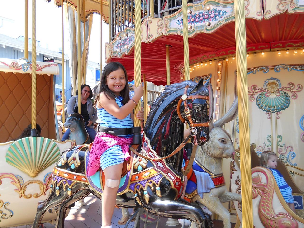Kaidyn on the Carousel.  It was a 2 story affair