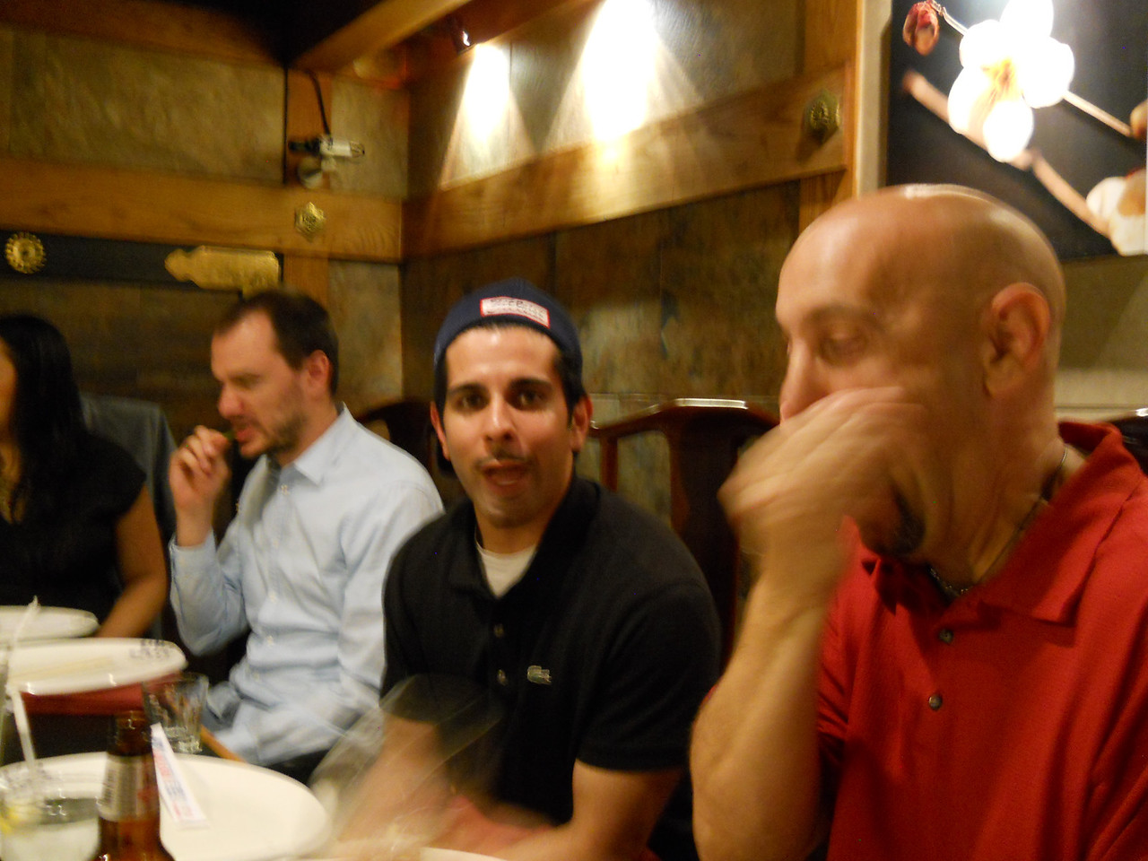 Mike's best man, Nassar (in black shirt), his groomsman, Jim (in red shirt) and the other guy is Darlene's boyfriend (Leonie's sister)