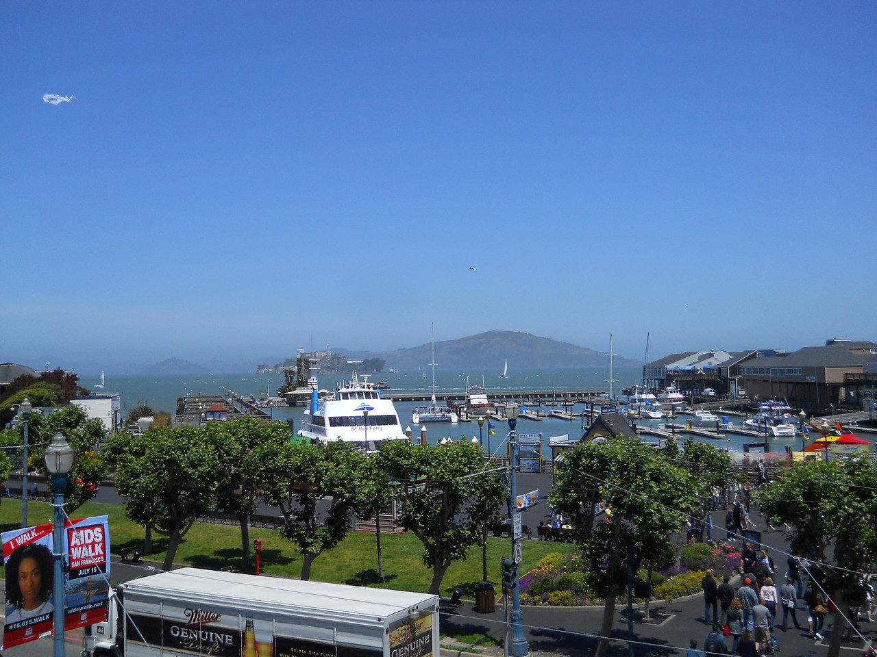 View of San Francisco Bay from the walkway