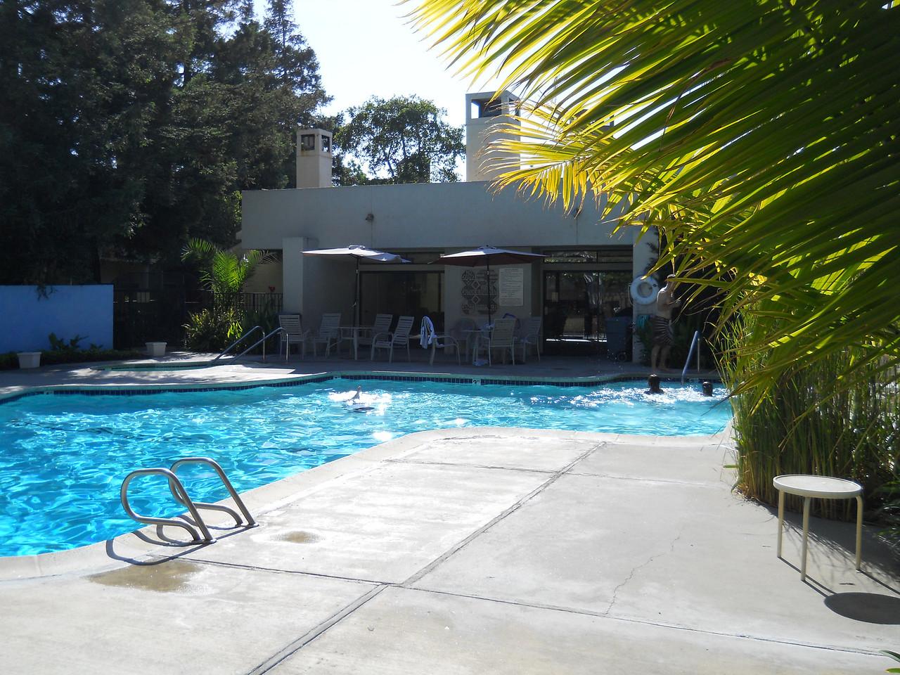 California Trip for Mike & Leonie's church wedding.  The pool at their condo