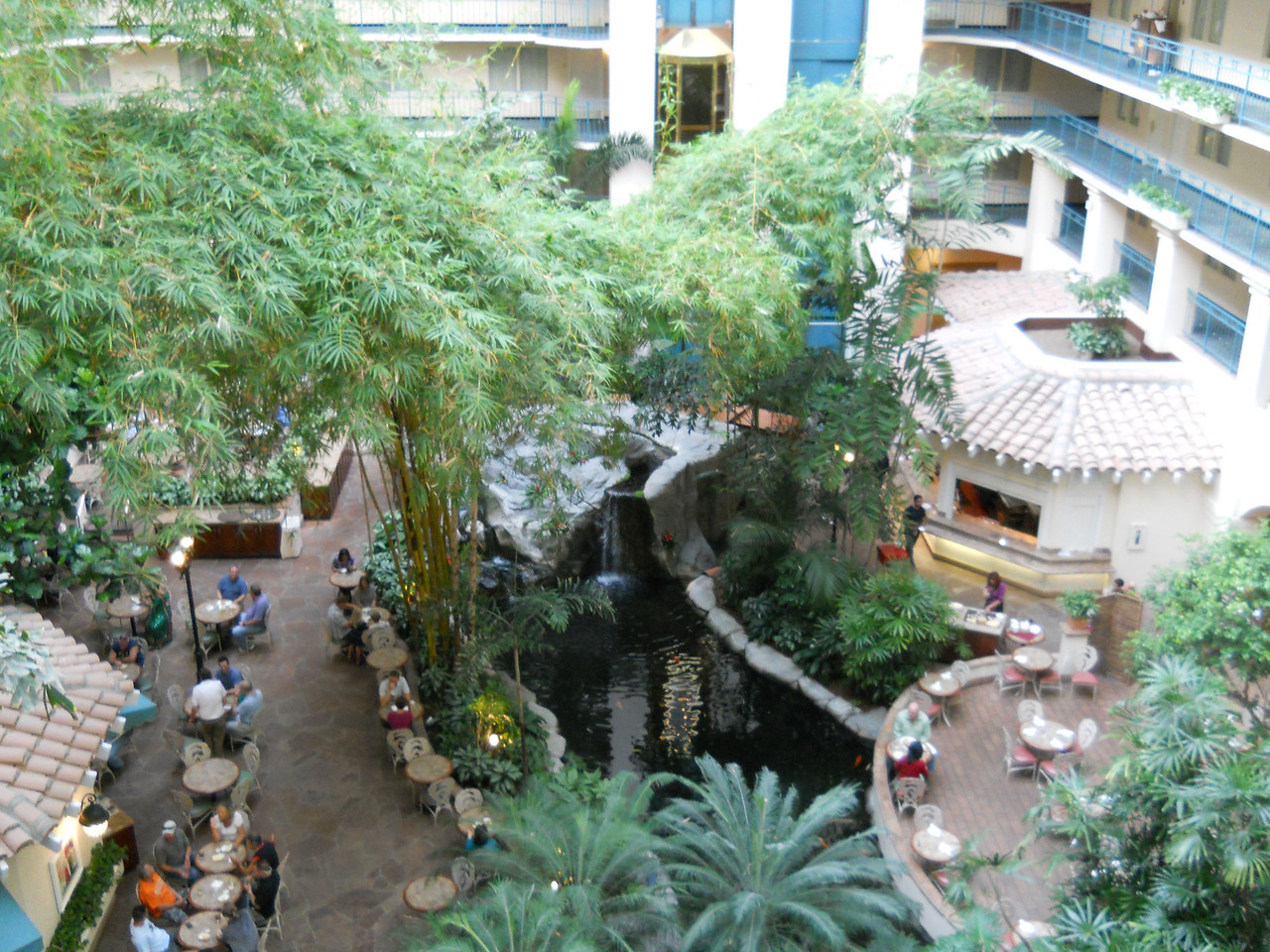 The lobby of our hotel, Embassy Suites
