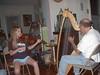 6/22/2004 - Lydia practicing with John Kovac (12 + yrs.)